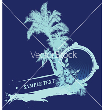 Free vintage summer background with palm trees vector - бесплатный vector #244977