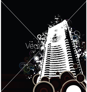 Free building with floral vector - vector #245047 gratis