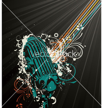 Free vintage music background vector - Kostenloses vector #245117