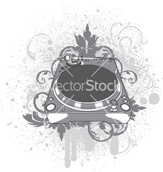 Free turntable with grunge vector - vector #245147 gratis