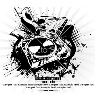Free turntable with grunge vector - vector #245227 gratis