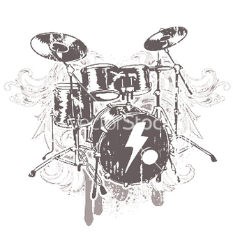 Free drums emblem vector - бесплатный vector #245237