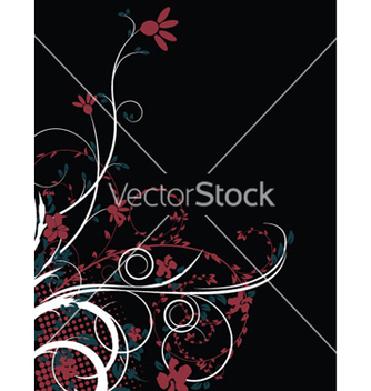 Free abstract floral background vector - Free vector #245247