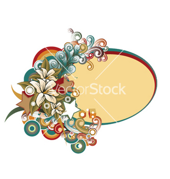 Free abstract floral frame vector - Free vector #245617