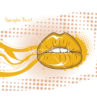 Free mouth with grunge vector - Kostenloses vector #245657