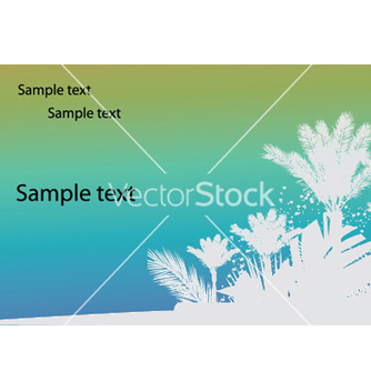 Free vintage summer background with palm trees vector - Free vector #245697