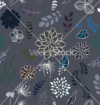 Free abstract seamless floral background vector - Kostenloses vector #245717
