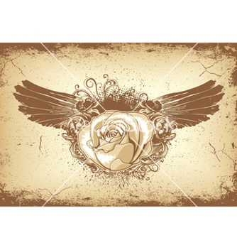Free rose with wings vector - vector gratuit #245987