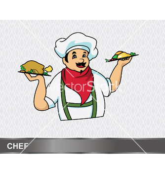Free cartoon chef vector - бесплатный vector #246007