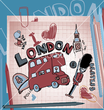 Free london doodles vector - vector gratuit #246067