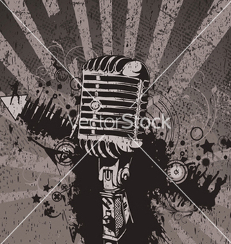 Free concert wallpaper with microphone vector - Kostenloses vector #246097
