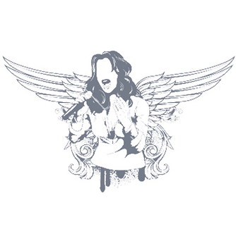 Free girl with wings vector - Free vector #246127