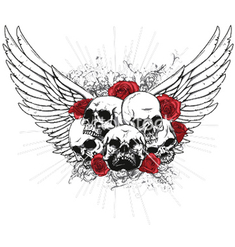 Free tshirt design with skulls vector - бесплатный vector #246247