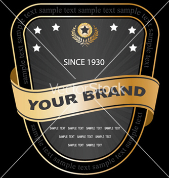 Free vintage gold label vector - бесплатный vector #246297