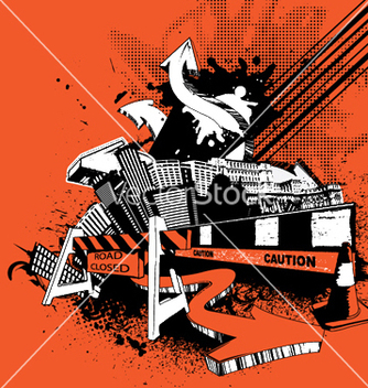 Free urban poster with 3d arrows vector - Kostenloses vector #246337