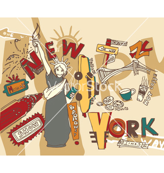 Free new york doodles vector - бесплатный vector #246437