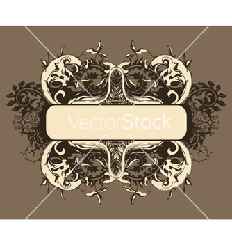 Free retro floral frame vector - Free vector #246467