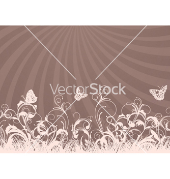 Free rays with floral vector - vector gratuit #246487