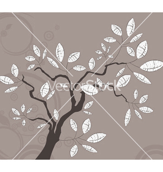 Free vintage background with tree vector - бесплатный vector #246517
