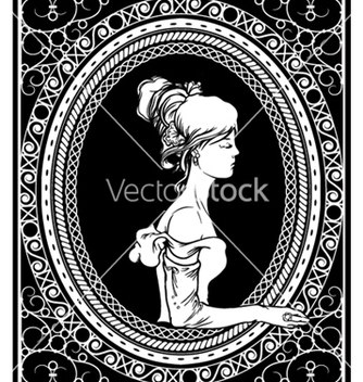 Free wrought iron frame with lady vector - Free vector #246607