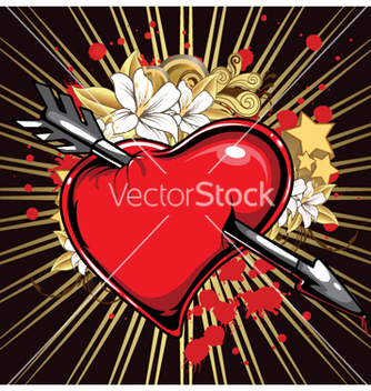 Free heart with ray vector - vector gratuit #246717