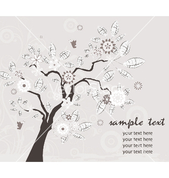 Free vintage background with tree vector - бесплатный vector #246827