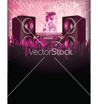 Free concert poster with speakers vector - Kostenloses vector #246837