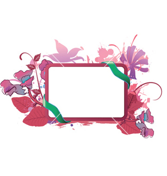 Free watercolor floral frame vector - Free vector #246847