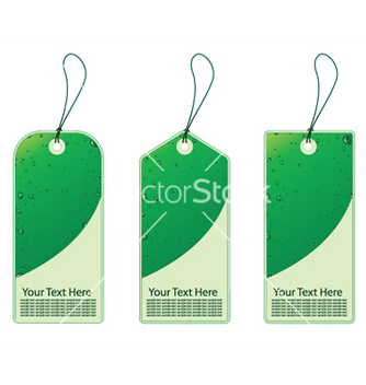 Free three eco shopping tags with bubbles vector - Kostenloses vector #247007