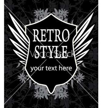 Free retro label with shield vector - Kostenloses vector #247367