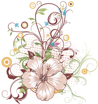 Free abstract flower with circles vector - Free vector #247537