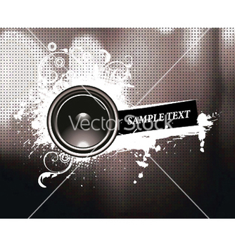 Free concert poster with speaker vector - Free vector #247567