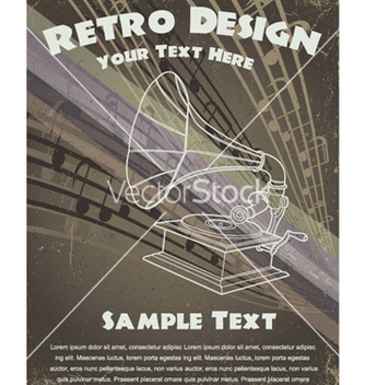 Free retro music poster vector - бесплатный vector #247657