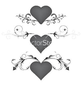 Free heart with floral vector - Free vector #247757