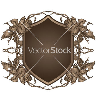 Free shield with floral vector - vector #247857 gratis