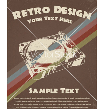 Free retro music poster vector - бесплатный vector #247897
