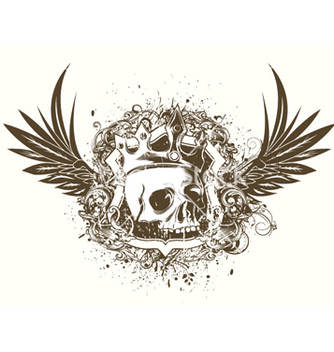 Free tshirt design with skull vector - бесплатный vector #248037