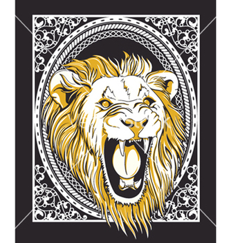Free frame with lion head vintage tshirt design vector - Free vector #248147
