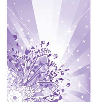 Free floral background with rays vector - vector #248247 gratis