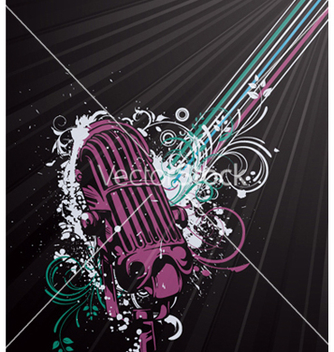 Free concert poster with microphone vector - Free vector #248447