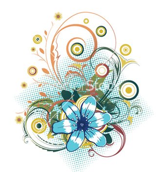 Free abstract flower with circles vector - vector #248467 gratis