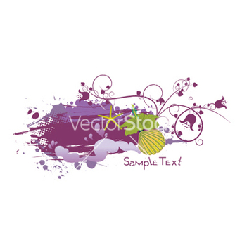 Free floral with grunge and sea creatures vector - Free vector #248557