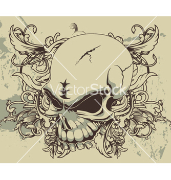 Free grunge floral and skull vector - Kostenloses vector #248667