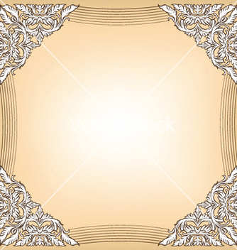 Free baroque floral frame vector - Free vector #248707