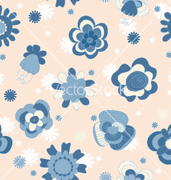 Free abstract seamless floral background vector - Free vector #248747