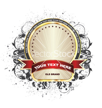 Free label with grunge vector - Kostenloses vector #248957