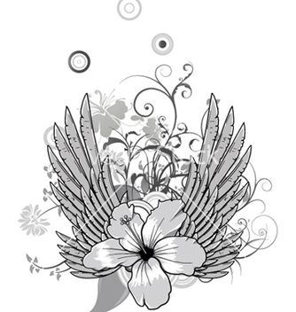 Free spring floral with wings vector - Free vector #249197