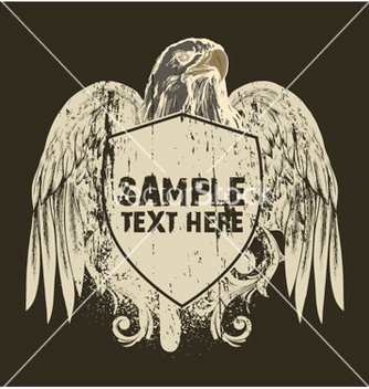 Free grunge tshirt design with shield vector - Kostenloses vector #249237