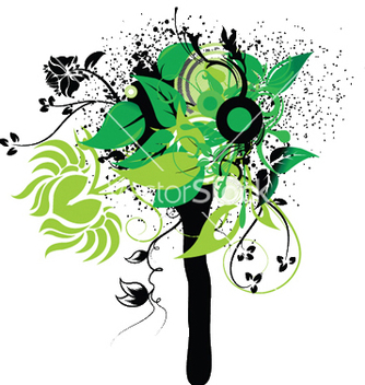 Free abstract spring floral vector - Free vector #249267