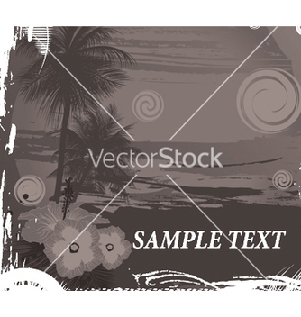 Free vintage summer background with palm trees vector - бесплатный vector #249477